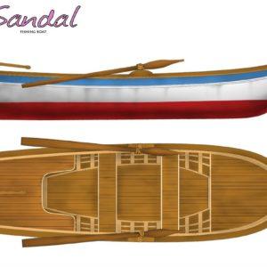 Turkish Model 1/12 Fishing Boat (Sandal) Wooden Ship Model Kit