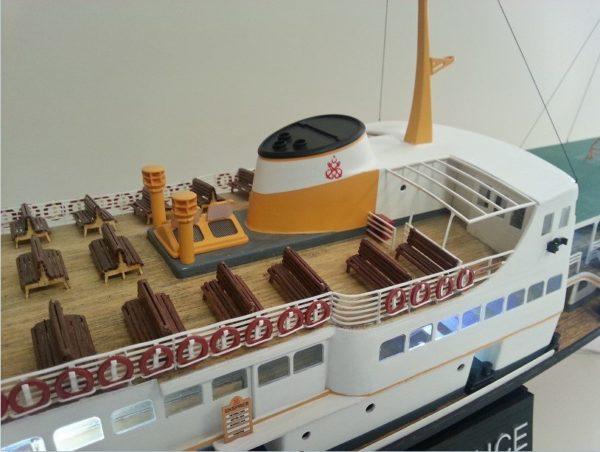 Turkish Model 1/87 Paşabahçe Passenger Ferry Wooden Ship Model Kit