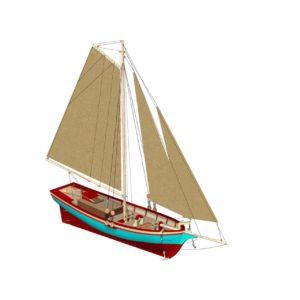 Turkish Model 1/50 Bosphorus Fishing Boat Wooden Ship Model Kit